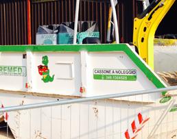 Cassoni e containers a noleggio per smaltimento macerie e rifiuti